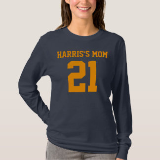 MOMS NUMBER Ladies Long Sleeve T-Shirt
