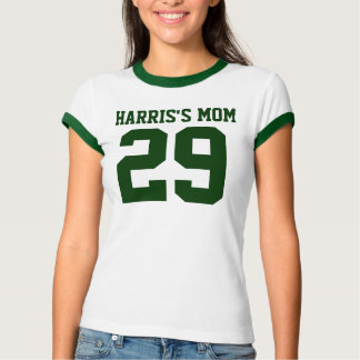 MOMS NUMBER Ladies Ringer T-Shirt