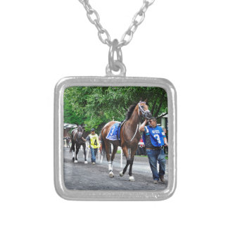 Mom's on Strike Silver Plated Necklace