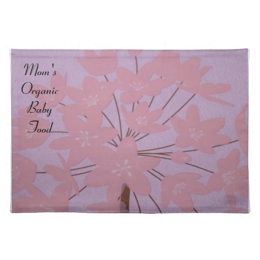 Mom's Organic Baby Food placemats Lavender Pink