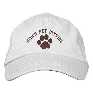 Mom's Pet Sitting Embroidered Baseball Hat