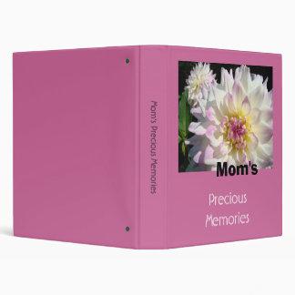 Mom's Precious Memories scrapbook binder Dahlias