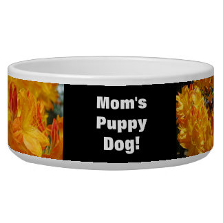 Mom's Puppy Dog! Dogs Food Water Bowl Floral Dog Bowls