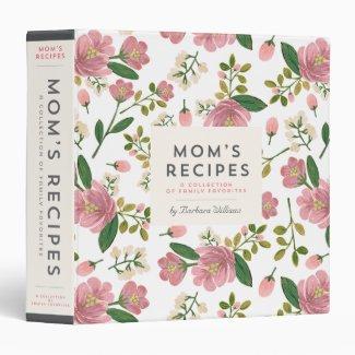 Mom's Recipe Binder - Blush Bouquet