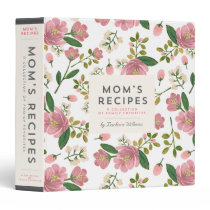 Mom's Recipe Binder - Blush Bouquet
