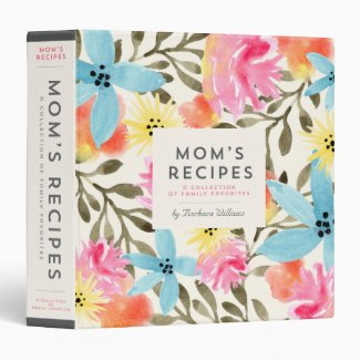 Mom's Recipe Binder - Paradise Floral
