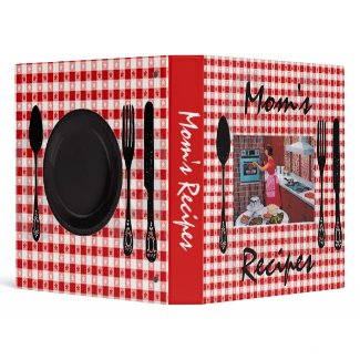 Mom's Recipe Binder, Retro Design binder