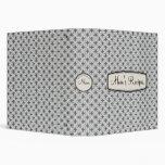 Mom's Recipe Book for Generations, Grey Lattice 3 Ring Binder