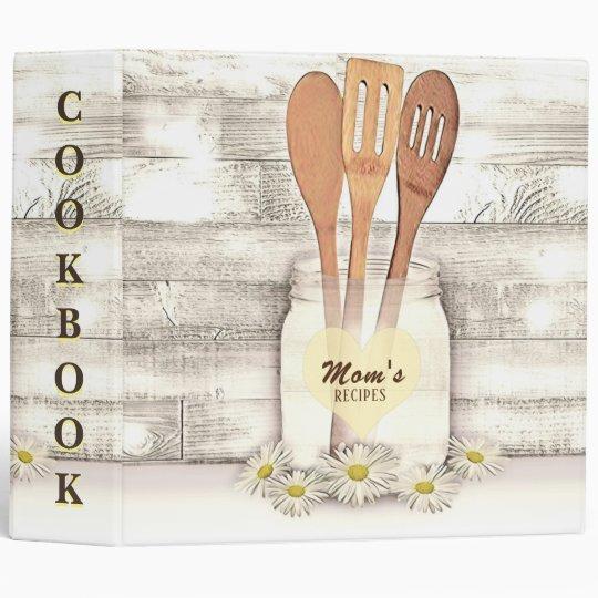 Moms Recipes Cookbook 3 Ring Binder