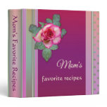 Mom's Recipes Floral Personalized Binder