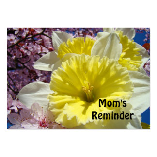 Mom's Reminder appointment Cards Daffodils Business Cards