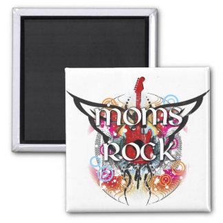 Moms Rock 2 Inch Square Magnet