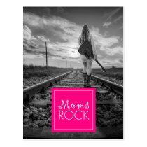 MOMs ROCK GUITARIST WALKING TRACKS Postcard
