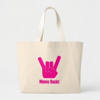 Moms Rock! Large Tote Bag