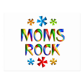 MOMS ROCK POSTCARD