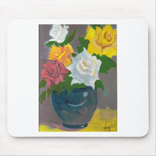 Mom's Roses Mouse Pad