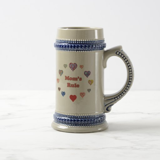 Mom's Rule 18 Oz Beer Stein