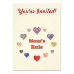 Mom's Rule 5x7 Paper Invitation Card