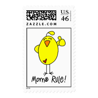 Moms Rule Mother s Day Chick Stamps