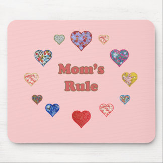 Mom's Rule Mouse Pad