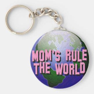 Mom's Rule The World-Keychain Basic Round Button Keychain