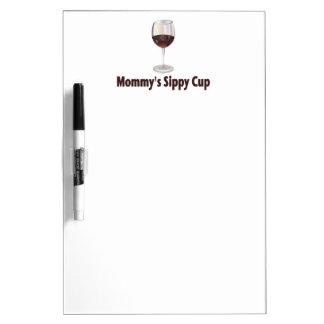 Mom's Sippy Wine Dry-Erase Board
