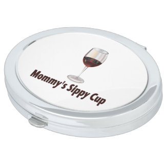 Mom's Sippy Wine Compact Mirror