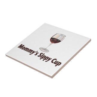 Mom's Sippy Wine Tile