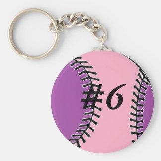 Mom's Softball Keychain
