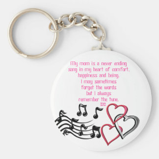 Mom's Song Keychain