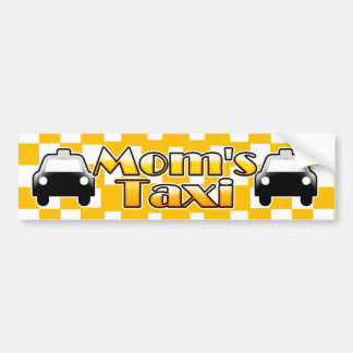 Mom's Taxi Bumper Sticker Car Auto Decal