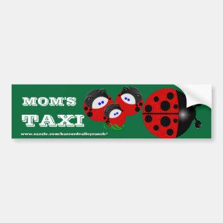 MOM'S TAXI LADYBUG BUGGY BUMPER BUMPER STICKER