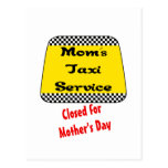 Mom's taxi service: Closed for Mother's Day. Postcard