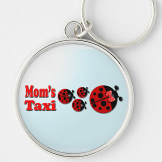 Mom's Taxi Silver-Colored Round Keychain