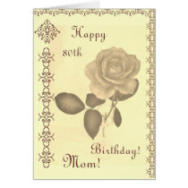 Mom's -- th birthday card