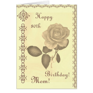 Mom's -- th birthday card