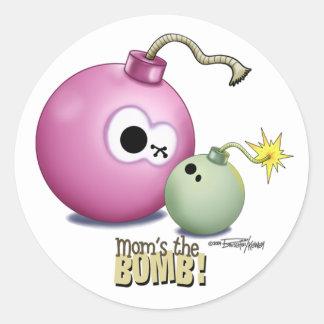 Mom's the Bomb sticker