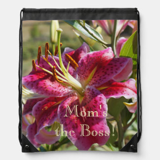 Mom's the Boss gifts Lily Drawstring backpacks