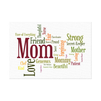 Mom's The Word! Canvas Print