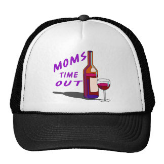 Moms Time Out Glass of Wine Trucker Hat