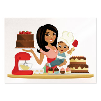 Mom's Treats / Cupcake / Bakery Business Large Business Card
