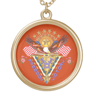 Moms Victory Award Important View About Design Round Pendant Necklace