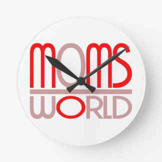 MOMS WORLD Wall Clock by ActionPros