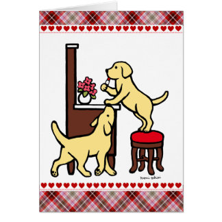 Mom's Yellow Lab Puppy Duo Card