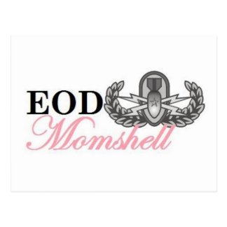 Momshell mayor de la insignia del eod tarjeta postal