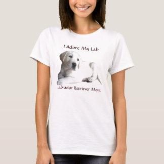 MomT-Camisa del labrador retriever Playera