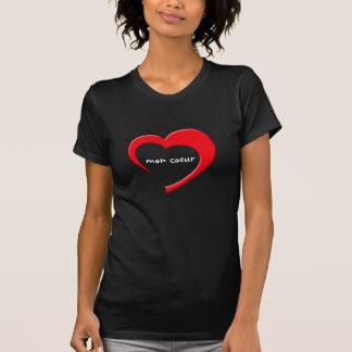Mon Coeur II T-Shirt (red on dark)
