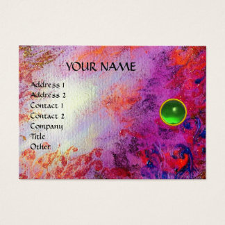 MON EMERALD AGATA ,bright  violet green gold Business Card