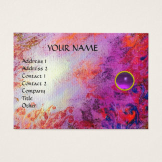 MON EMERALD AGATA , violet linen Business Card