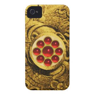MON GEM red iPhone 4 Case